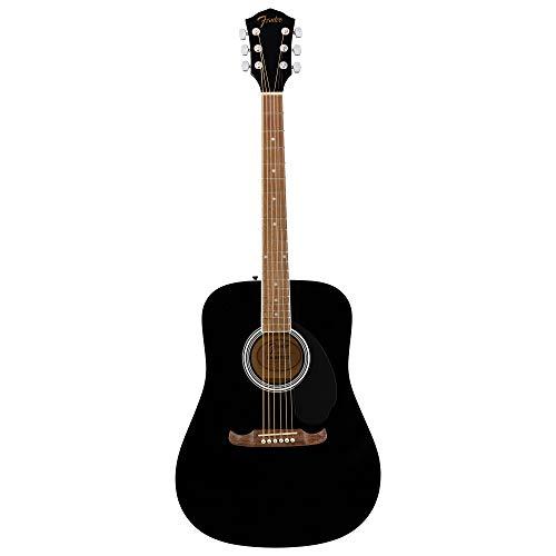 Fender FA-125 Dreadnought Akustikgitarre - Walnuss-Griffbrett - Schwarz