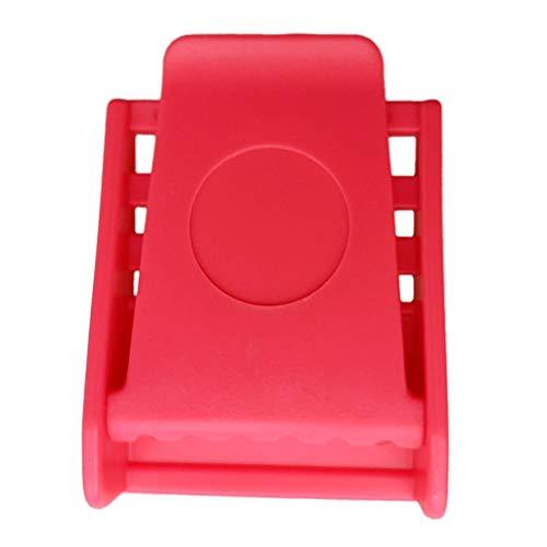 Milageto Juego de Hebilla de Cinturón de Peso de Buzo de Buceo de Plástico Fuerte - 4 Colores - Rosado