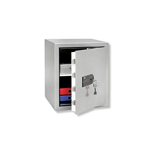 BURG-WÄCHTER Wertschutzschrank, MT 660 K, Doppelbartschloss, Widerstandsgrad N, Silber