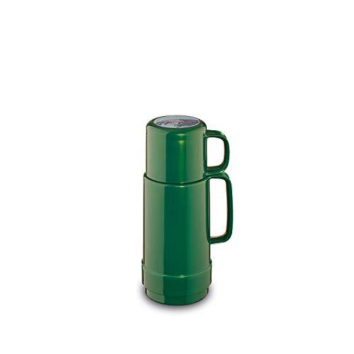 ROTPUNKT Isolierflasche 80 Andreas | Zweifunktions-Drehverschluss | BPA Frei- gesundes Trinken | Made in Germany | Warm + Kalthaltung | Glaseinsatz (250 ml, Shiny Jade)