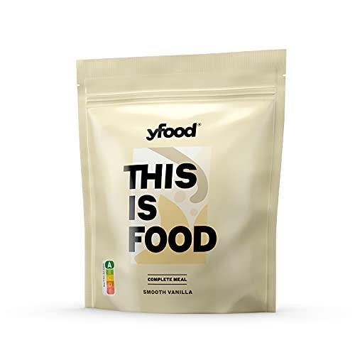 yfood Pulver | Leckere Trinkmahlzeit für unterwegs | THIS IS FOOD Pulver | 17 Mahlzeiten | 26 Vitamine und Mineralstoffe | 1,5kg Beutel