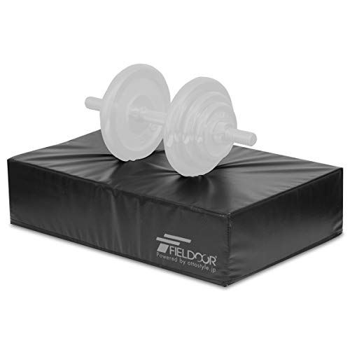 FIELDOOR ダンベルミット 【ダブルサイズ】 ダンベル/バーベル用クッション 80cm×60cm×15cm 衝撃を吸収し床のキズと騒音を防止 防音 トレーニング マット 騒音対策