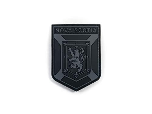 "PVC Morale Patch - Nova Scotia Provincial Patch - Black & Grey 2""x2.5"""