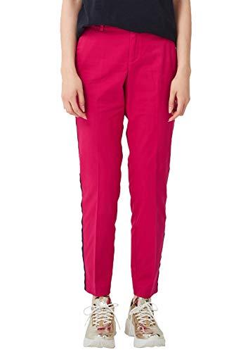 s.Oliver RED LABEL Damen Shape Ankle: Chino mit Galonstreifen pink 44