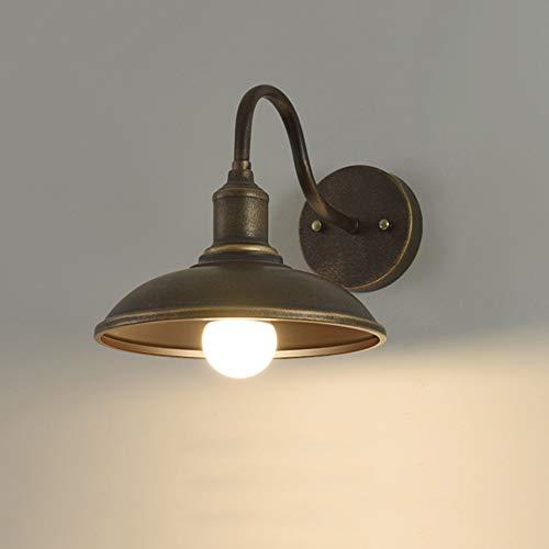 Buiten-wandlamp antieke industriële wandlamp van ijzer waterdicht IP22 buitenlamp wandlamp retro balkon terrassen tuin huisingang buitenverlichting, E27-fitting, koper-zwart