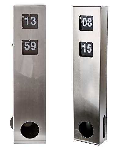 Casablanca - Uhr - Edelstahl Flip Display Pendel zum Hängen oder Stellen H 48 cm