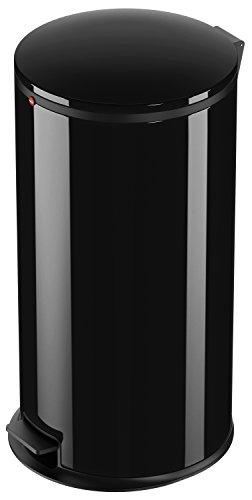Hailo 0545-060 Poubelle, Métal, Noir, 45 x 45 x 70 cm