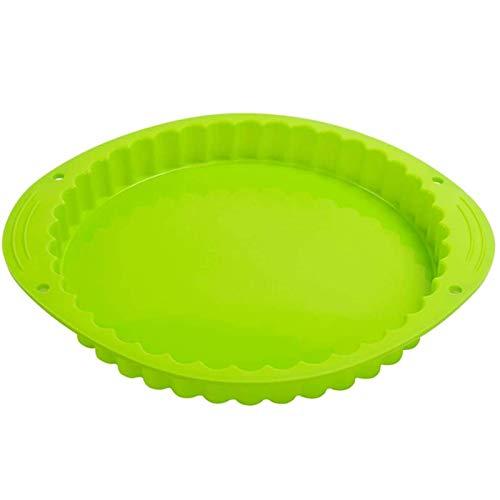 Webake Tart Pan Silicone Pie/Flan Pan 9.5 Inch Quiche Baking Dish Non-Stick Pizza Pie Mold