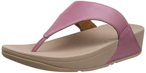 FitFlop Lulu Leather Toepost, Sandalias con Plataforma para Mujer, Rosa (Rose 729), 37 EU