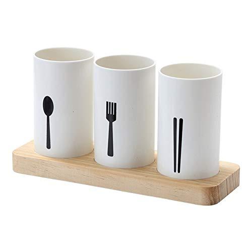 ZHNA Cuisine Arts de la Table de vidange Tube Chopsticks, européen de Haute qualité en chêne Base de Table Boîte de Rangement