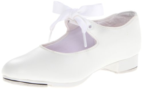 Capezio girls Jr. Tyette Tap Shoe, White, 7 M US Toddler
