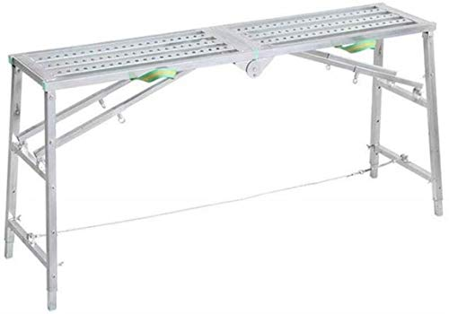 IAIZI vouwladder multifunctioneel paard kruk hendel steiger engineering platform kruk anti-slip dubbelpolige ladder dikke decoratie opstapkruk (grootte, 160cm), 160cm