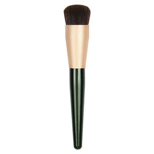 JessLab Pennello Fondotinta, Manico in Legno Pennello per Fondotinta Lisciatura Makeup Face Brush Pennello per Fondotinta Lucidante per Fondotinta Liquido o Crema, Setole Sintetiche - 1 Pezzo