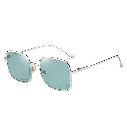 DLSM Moda Feminina Óculos de Sol Cuadrados Coloridas Coloridas Estilo Oceano AO AR Livre Óculos UV400 TENDICIA MASULINA-Verde