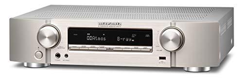 Marantz NR1711 7.2-Kanal AV-Receiver, Hifi Verstärker, Alexa kompatibel, 6 HDMI Eingänge und 1 Ausgang, 8K-Video, Bluetooth, WLAN, Musikstreaming, Dolby Atmos, AirPlay 2, HEOS Multiroom, Silber