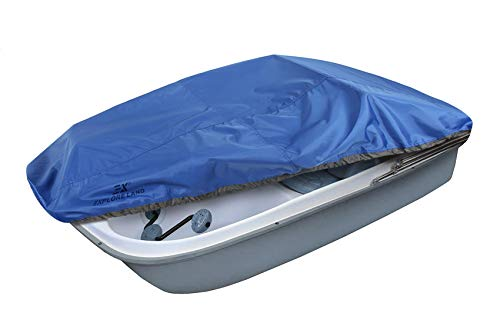 Explore Land Pedal Boat Cover - Waterproof Heavy Duty Outdoor 3 or 5 Person Paddle Boat Protector (Blue)