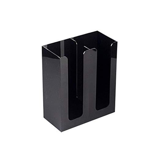 WUYANSE Portavasos-Dispensador de Vasos-4 Compartimentos Almacenamiento y Tapa de acrílico Caja de Almacenamiento Taza desechable Cafetería