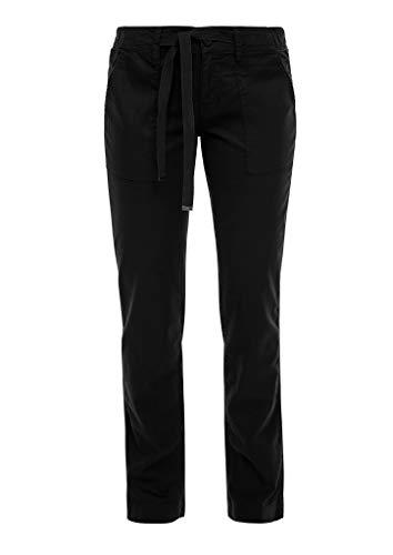 Q/S designed by - s.Oliver Damen Wide Leg-Hose aus Leinenmix Black 34.32