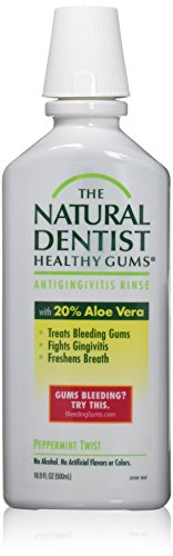 The Natural Dentist Moisturizing Healthy Gums Antigingivitis Rinse, Peppermint Twist 16.90 oz by Natural Dentist