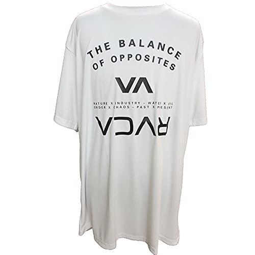 2021 RVCA ルーカ Tシャツ 半袖 ラッシュガード BB041-853 BALANCE ARC HB ST スポーツ ジム SPORTS メンズ トレーニング 海 プール (WHT, L)