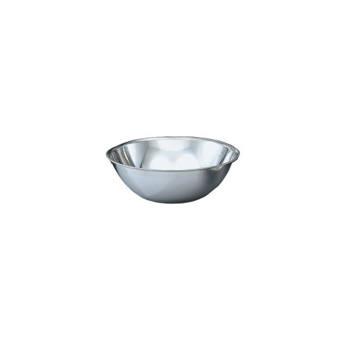 Vollrath 47949 Bright Mirror Finish S/S 20-Quart Economy Stainless Steel Mixing Bowl, silver