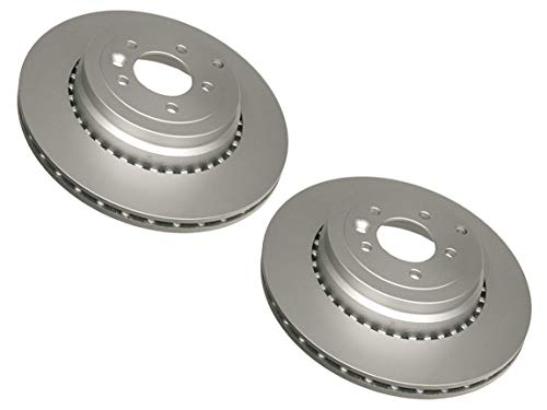 Pair Set of 2 Rear Eurospare Brake Disc Rotor for Range Rover Sport Supercharged