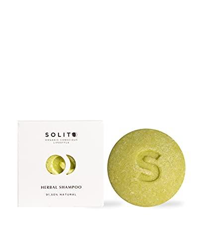 60gr. Champú sólido - Neutro - Para todo tipo de cabello - 2 en 1 Nutrición y Brillo - Libre de Tóxicos y Parabenos - 100% Vegano y Biodegradable - de Solito