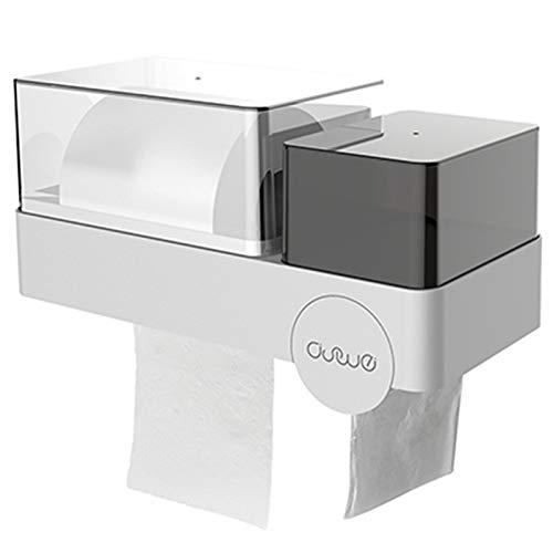 NoNo Toilettenpapierkasten Toilettenpapierrolle Rollenpapierhalter Sauger-Halter frei Bohren wasserdichte Box Toilettenpapiergewebe