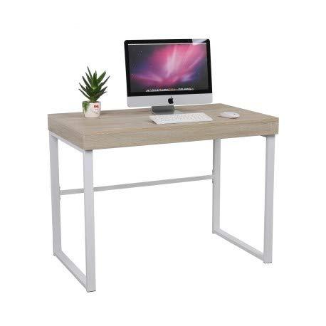Tavolo da studio 100 x 60 cm con struttura metallica mes122001-DESKandSIT-100 x 60 cm