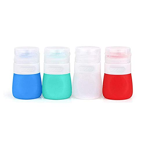 YINGGG Squeeze Portable Salad Dressing Container to Go Bottles Sauce Leakproof Condiment Storage Bottle, Dressing to Go for Lunch set of 4 (37ML)