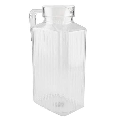 Uxsiya Jarra de agua transparente Botella de jugo Hervidor de agua de acrílico con tapa (1800 ml)