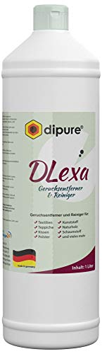 dipure® DLexa Geruchsentferner und Reiniger 1 Liter Nachfüllflasche (Enzymreiniger, Teppichreiniger, Polsterreiniger entfernt Urin, Kot, Moder, Milch)