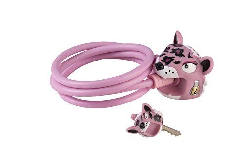 Crazy Safety Leopard Fahrradschloss Mädchen, rosa