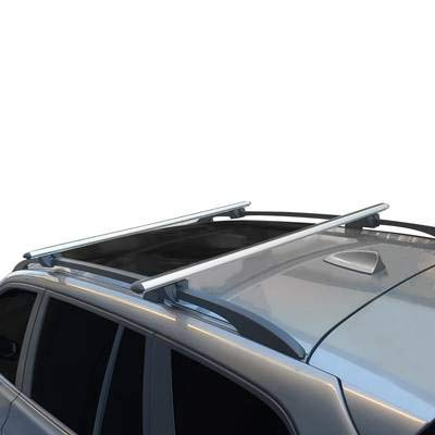 apline Para Honda Civic Shuttle 1995-2002 Barras de techo Portaequipajes Aluminio Gris