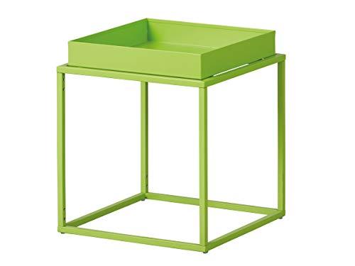 Inter Link Design bijzettafel Industrial-Style metaal groen geschikt voor binnen en buiten
