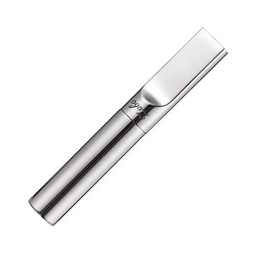 Zidao Taille Regular Art Déco à Court d'argent en métal de Porte-Cigarette - s'adapte Cigarettes Regular,Argent