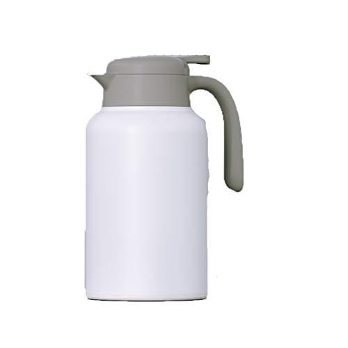 Aoyo Haushaltsisolationstopf, Tragbarer Edelstahltopf, Thermoskessel-Kaffeekanne(Color:2000ml White)