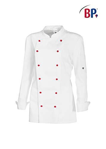 BP 1542-400-21-38 Kochjacke für Frauen, Lange Ärmel mit Manschetten, 215,00 g/m² Stoffmischung, weiß ,38