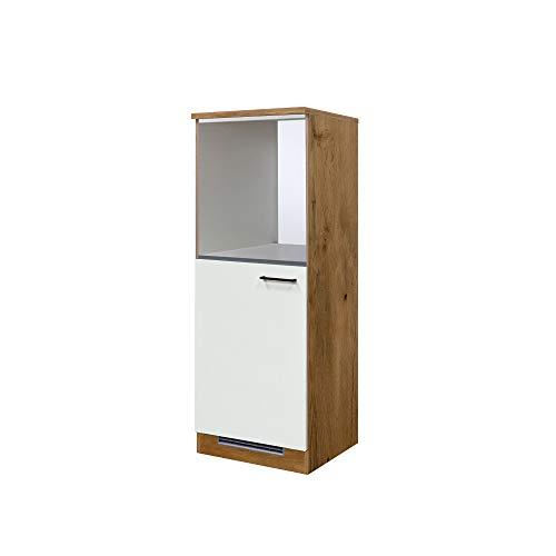 MMR Midi-Kühlschrank- und Herdumbauschrank GLASGOW - Umbauschrank - 1-türig - 60 cm breit - Creme Matt