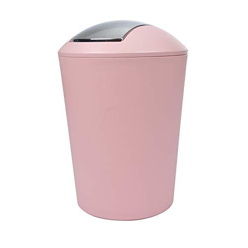 Douceur d'Intérieur 6PSB050RS Flic Flac - La Basura de Color Rosa con Recubrimiento en Polvo, 5,6 L