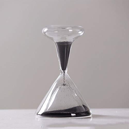 Reloj de arena MXECO Reloj de arena soplado a mano Reloj de vidrio magnético Reloj de arena Ampulheta Crafts Reloj de arena Reloj de arena (blanco (JW1625BK))