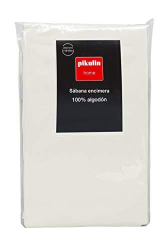Pikolin Home - Drap de dessus, 100% coton, couleur violet. 260x280cm-Lit 150/160