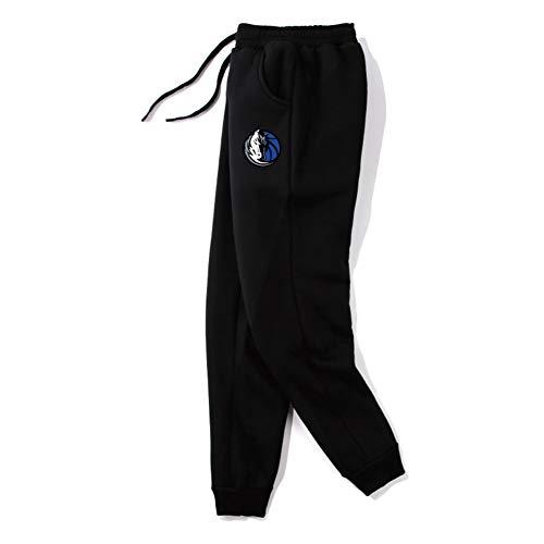 Haoshangzh55 Pantalones Cortos De Baloncesto/Dallas Mavericks # 77 Luka Doncic Black Deportes De Entrenamiento Deportivo Traje Grueso De Lana De Lana Pantalones,Pants,3XL