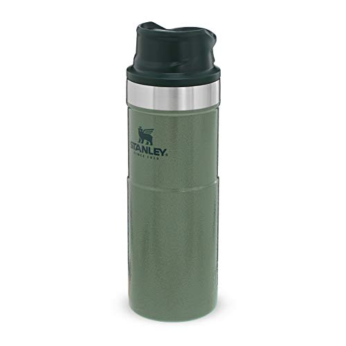 Stanley Classic Trigger Action Travel Mug 0.47L / 16OZ Hammertone Green – Leakproof Cup | Hot & Cold Thermos Bottle | Insulated Tumbler for Coffee, Tea & Water | BPA FREE Stainless-Steel Travel Flask