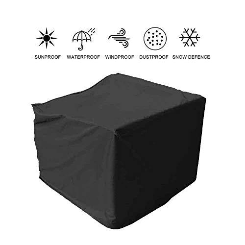 ASDFGHT Meubles en Rotin Cube Couverture Jardin Extérieur Patio Machine Équipement Étanche Étanche À La Poussière Bâche De Protection, Format Personnalisé (Color : Noir, Size : 270×180×89cm)