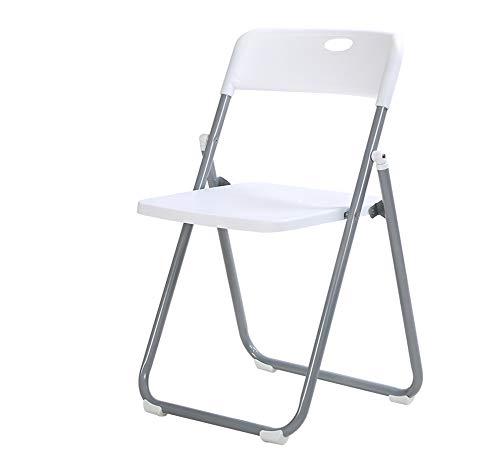 Zzzzy Commerciale chaises Pliantes en Plastique événement fête de Mariage Chaise Ergonomique-Set de 4-Blanc