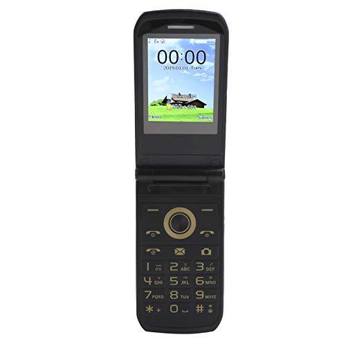 EBTOOLS1 Teléfono móvil de 2,4 Pulgadas, teléfono móvil Plegable, teléfono móvil Senior de Larga Espera, teléfono móvil con Llave Grande, teléfono Plegable sin Contrato, 32 MB + 32 MB(Azul)
