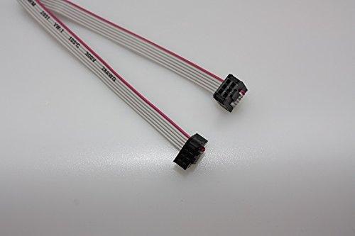 IDC Flachbandkabel Pfostenbuchsen 6-polig 2,0m für ISP Atmel AVR STM ARM JTAG Programmer