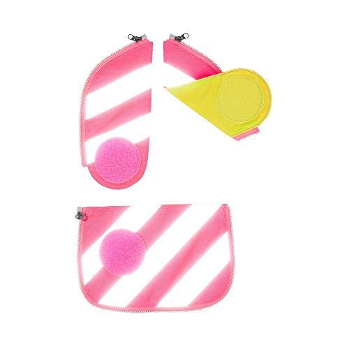 Ergobag Cubo Sicherheitsset mit Reflektorstreifen 3tlg. Pink