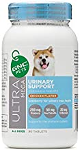 GNC Pets Ultra Mega Urinary Support Chewable Tablets Supplement for Dogs, 90 Count - Chicken Flavor | Made with Cranberry for Urinary Tract Health (FF13786)